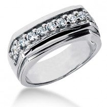 Platinum Men's Diamond Wedding Ring 0.66ct