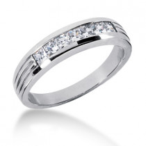 Platinum Men's Diamond Wedding Ring 0.70ct
