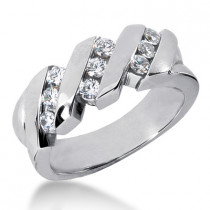 Platinum Men's Diamond Wedding Ring 0.72ct