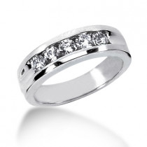 Platinum Men's Diamond Wedding Ring 0.75ct