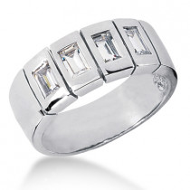 Platinum Men's Diamond Wedding Ring 0.80ct