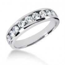 Platinum Men's Diamond Wedding Ring 1.10ct