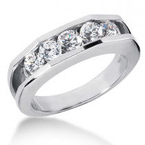 Platinum Men's Diamond Wedding Ring 1.20ct