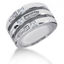 Platinum Right Hand Diamond Ladies Ring 0.50ct