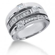 Platinum Right Hand Diamond Ladies Ring 0.67ct
