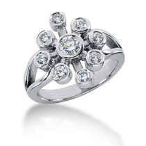 Platinum Right Hand Diamond Ladies Ring 0.69ct