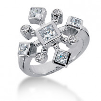 Platinum Right Hand Diamond Ladies Ring 1.20ct