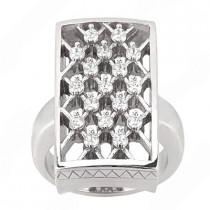 Platinum Right Hand Ladies Diamond Ring 0.51ct