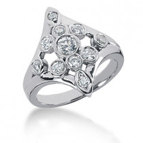 Platinum Right Hand Ladies Diamond Ring 0.85ct