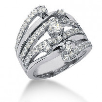 Platinum Right Hand Ladies Diamond Ring 1.18ct