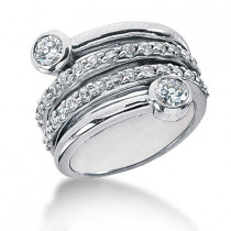 Platinum Right Hand Ladies Diamond Ring 1.25ct