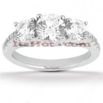 Platinum Round Diamond Engagement Ring 1.70ct