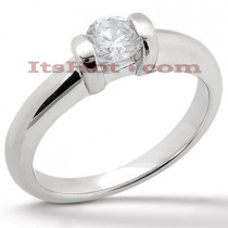 Platinum Round Diamond Engagement Ring 1ct