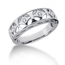 Platinum Round Diamond Ladies Ring 0.10ct