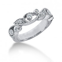 Platinum Round Diamond Ladies Ring 0.16ct