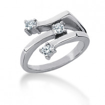 Platinum Round Diamond Ladies Ring 0.30ct