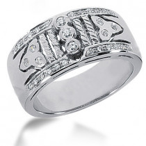 Platinum Round Diamond Ladies Ring 0.35ct