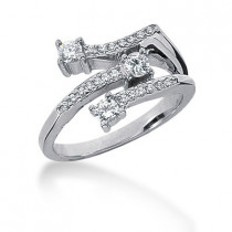 Platinum Round Diamond Ladies Ring 0.40ct