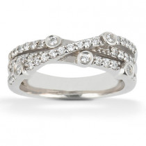 Platinum Round Diamond Ladies Ring 0.43ct