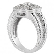 Platinum Round Diamond Ladies Ring 0.50ct