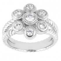 Platinum Round Diamond Ladies Ring 0.57ct