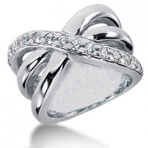 Platinum Round Diamond Ladies Ring 0.60ct
