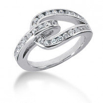 Platinum Round Diamond Ladies Ring 0.62ct