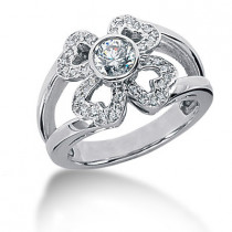 Platinum Round Diamond Ladies Ring 0.63ct