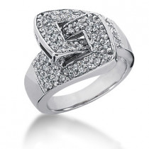 Platinum Round Diamond Ladies Ring 0.64ct