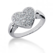 Platinum Round Diamond Ladies Ring 0.66ct