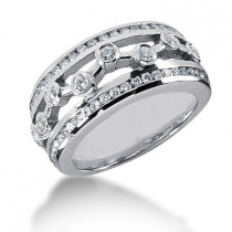 Platinum Round Diamond Ladies Ring 0.68ct