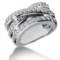Platinum Round Diamond Ladies Ring 0.70ct