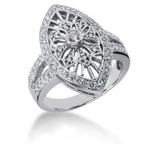 Platinum Round Diamond Ladies Ring 0.71ct