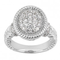 Platinum Round Diamond Ladies Ring 0.72ct