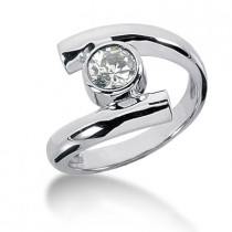 Platinum Round Diamond Ladies Ring 0.75ct