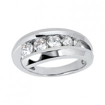 Platinum Round Diamond Ladies Ring 0.76ct