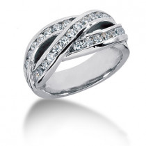 Platinum Round Diamond Ladies Ring 0.81ct