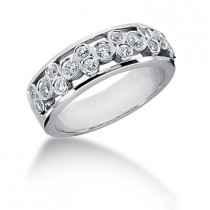 Platinum Round Diamond Ladies Ring 0.84ct
