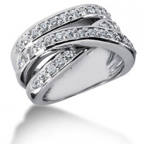 Platinum Round Diamond Ladies Ring 0.90ct