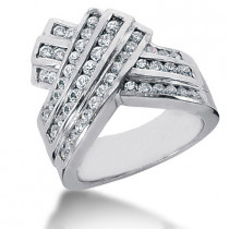 Platinum Round Diamond Ladies Ring 1.09ct