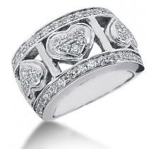 Platinum Round Diamond Ladies Ring 1.15ct