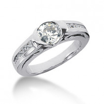 Platinum Round Diamond Ladies Ring 1.22ct