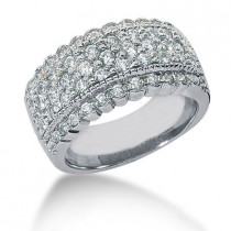 Platinum Round Diamond Ladies Ring 1.23ct