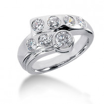 Platinum Round Diamond Ladies Ring 1.32ct