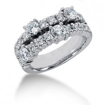 Platinum Round Diamond Ladies Ring 1.40ct