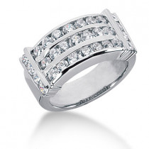 Platinum Round Diamond Ladies Ring 1.45ct