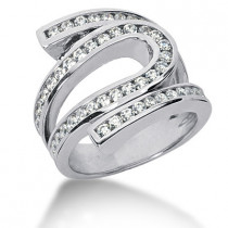 Platinum Round Diamond Ladies Ring 1.48ct