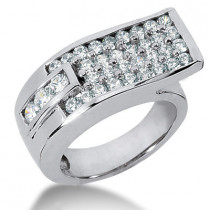 Platinum Round Diamond Ladies Ring 1.52ct