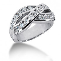 Platinum Round Diamond Ladies Ring 1.54ct