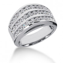 Platinum Round Diamond Ladies Ring 1.56ct